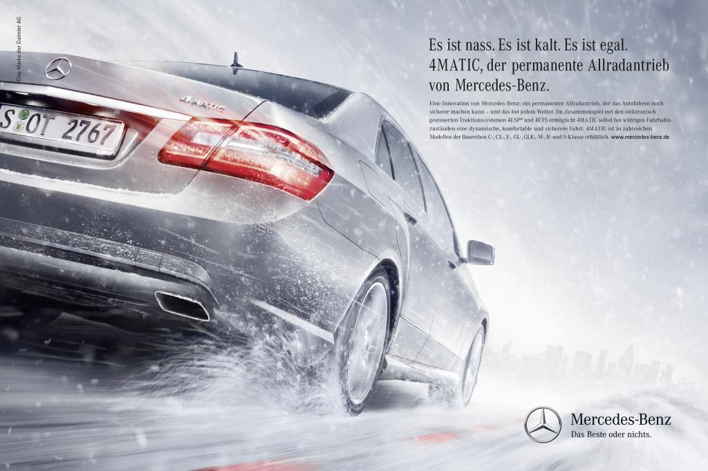 Mercedes-Benz startet Werbekampagne zu 4Matic