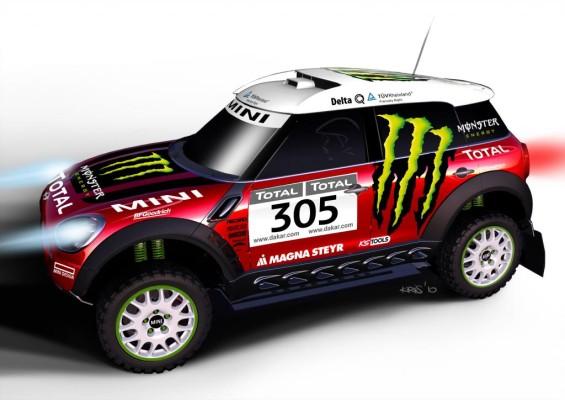 Mini startet bei der Rallye Dakar