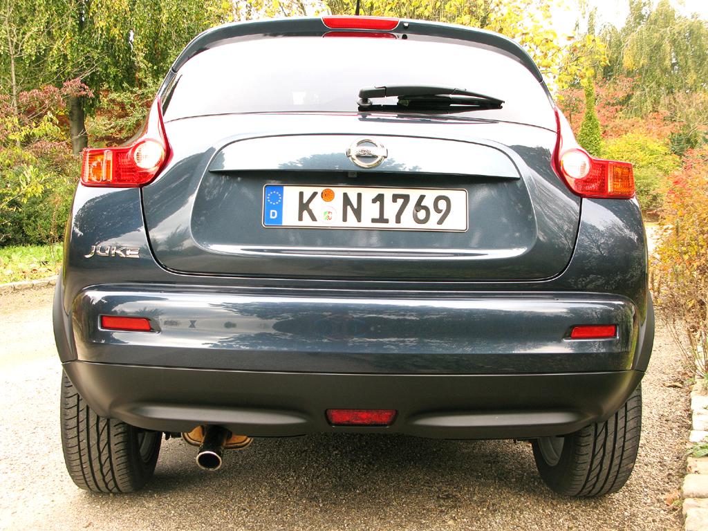 Nissan Juke: Heckansicht.