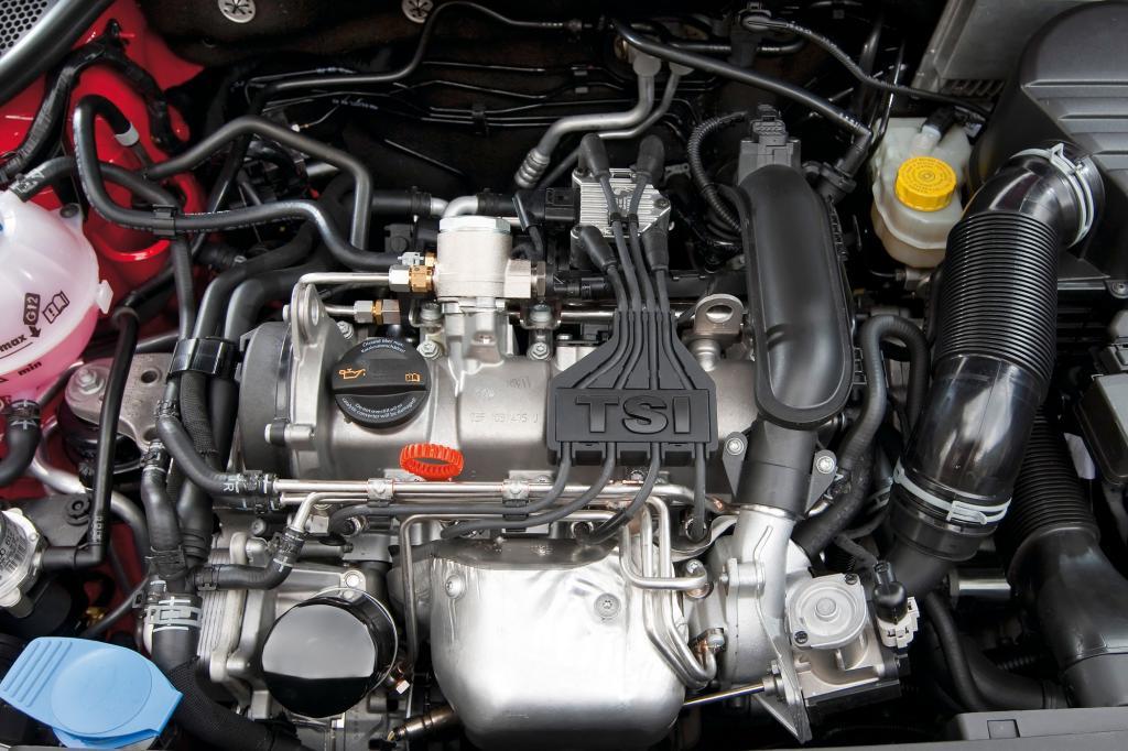 VW setzt bei den Motoren mit 1,2 und 1,4 Liter Hubraum ebenfalls auf Downsizing
