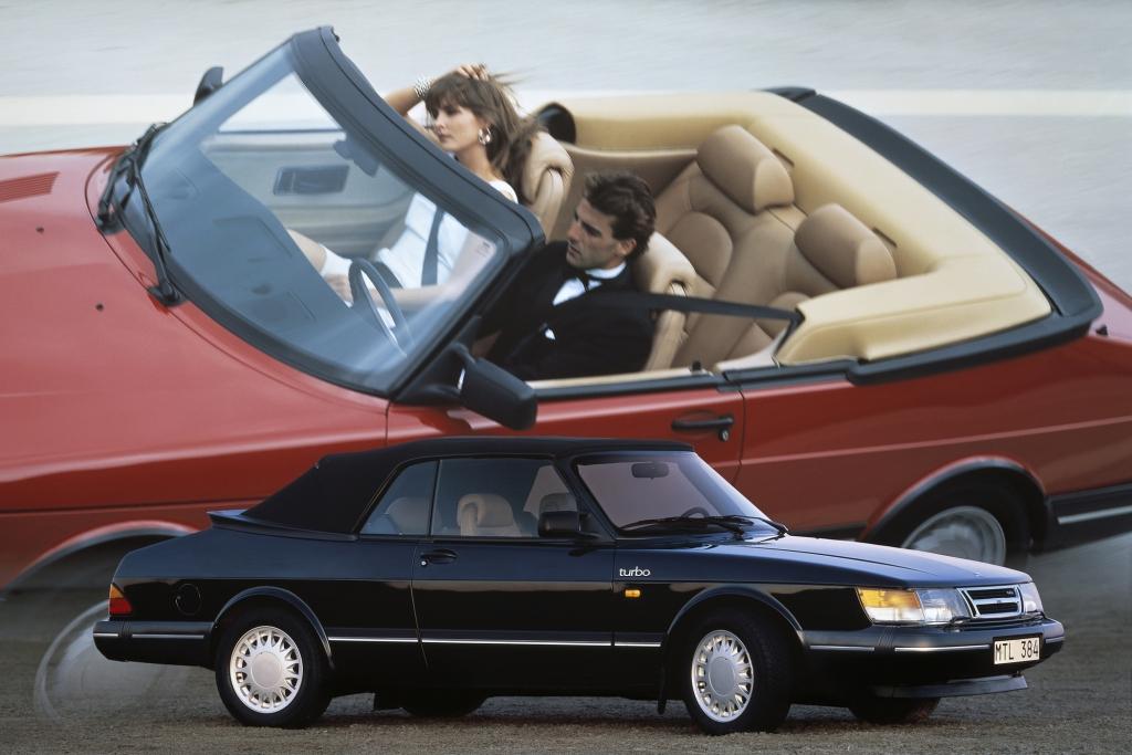 Vier vollwertige Plätze im Saab 900 Cabriolet.