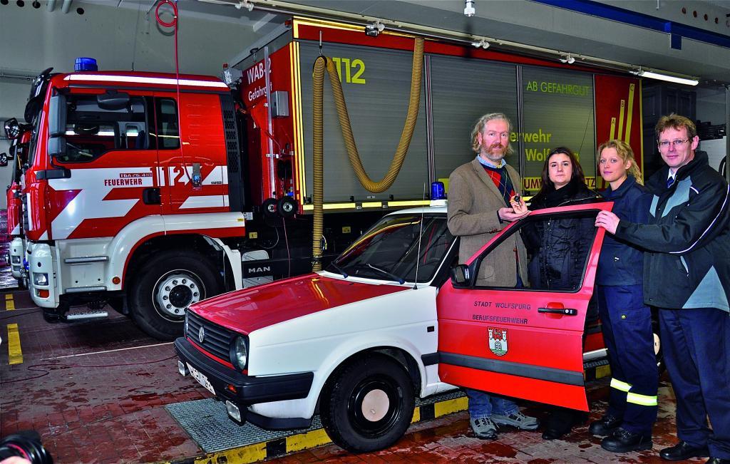 Volkswagen-Museum übernimmt Golf II von der Feuerwehr