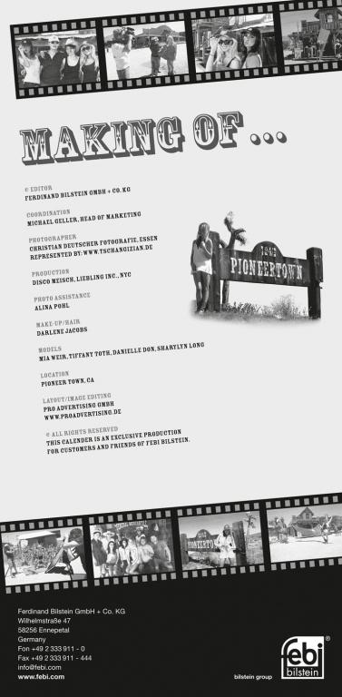 febi bilstein Werkstattkalender 2011: Kultkalender feiert zehnjähriges Jubiläum