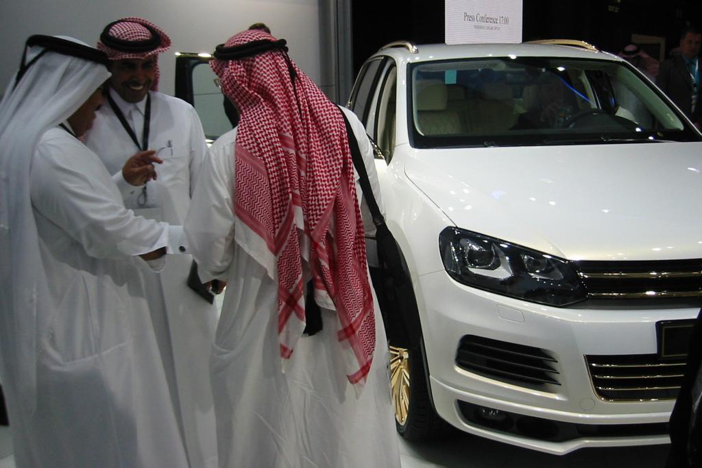 24-Karat Gold ziert den VW Touareg