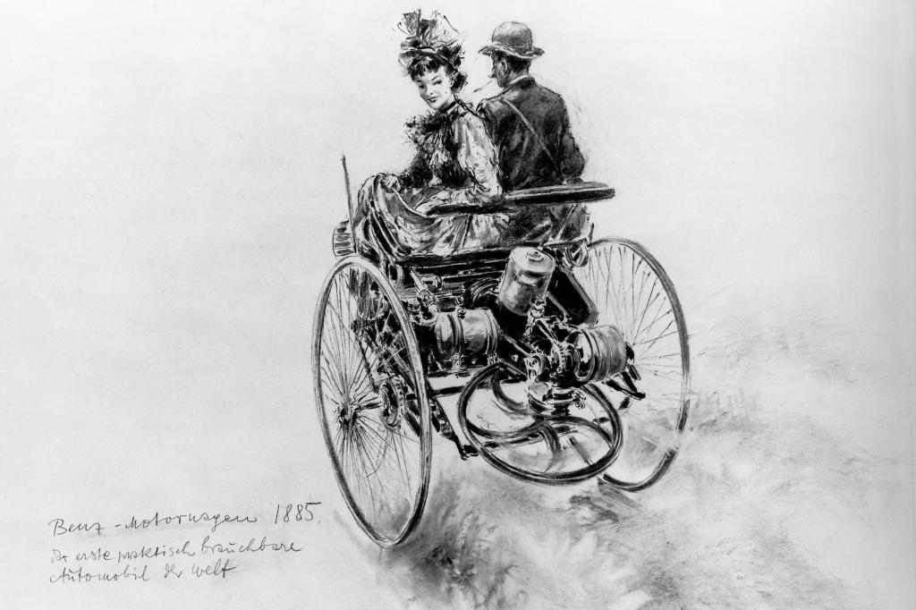 Bertha Benz machte das Fahrzeug berühmt, mit einer Langstreckenfahrt