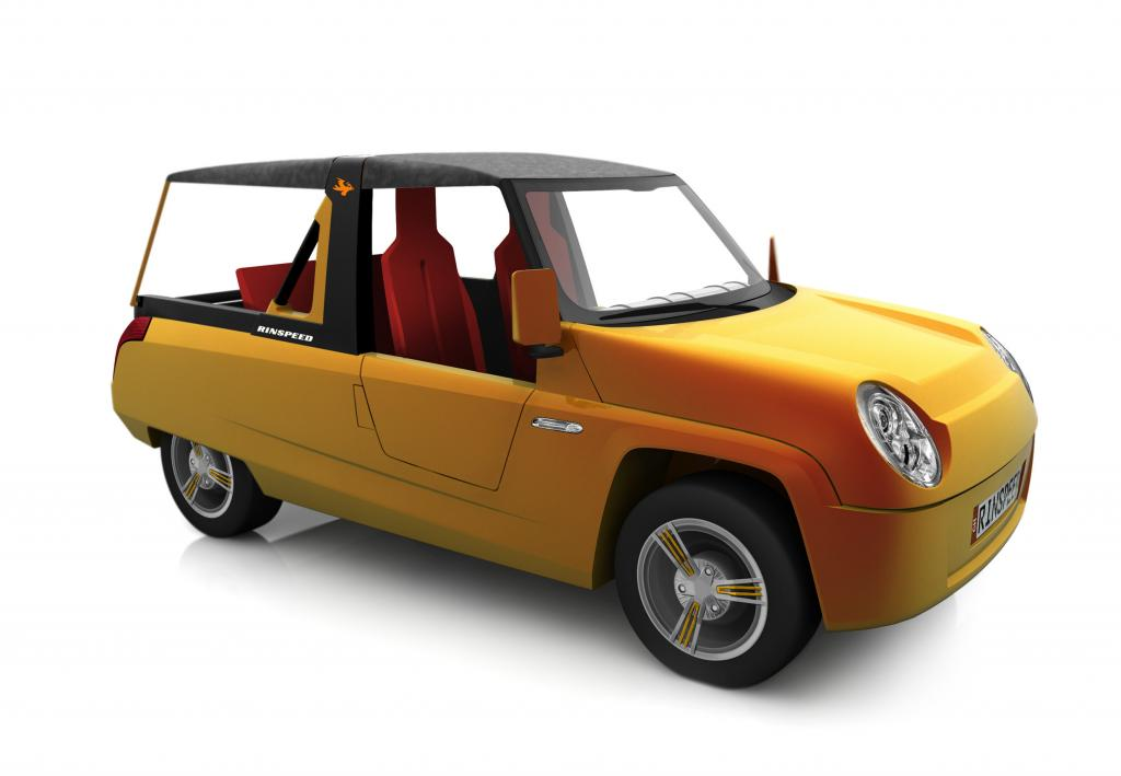 Das Fahrzeug selbst erinnert an einen Strandbuggy.