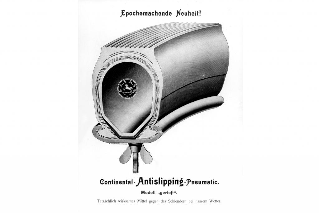 Der erste Conti Reifen mit Profil.