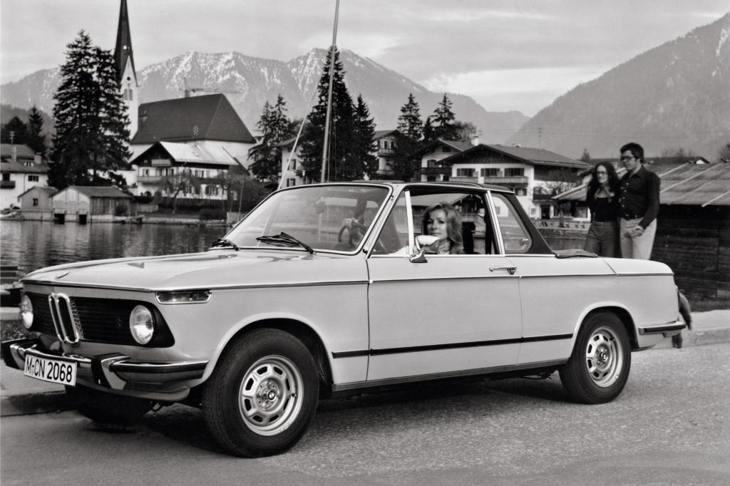 Ein Baur 2002 Cabriolet in den Alpen