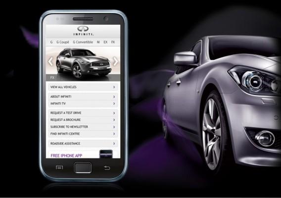 Infiniti startet europaweit mobile Webseite