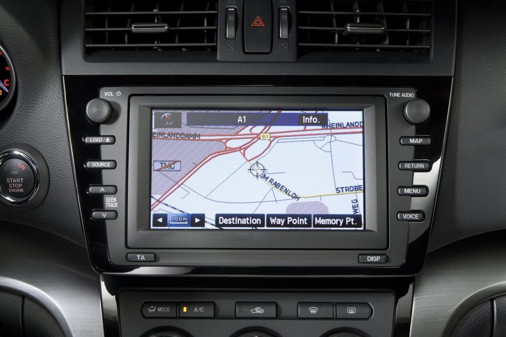Intuitiv zu bedienen: das Navigationssystem des Mazda6.