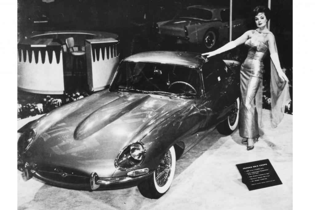 Jaguar E-Type auf der New York Auto Show, 1961