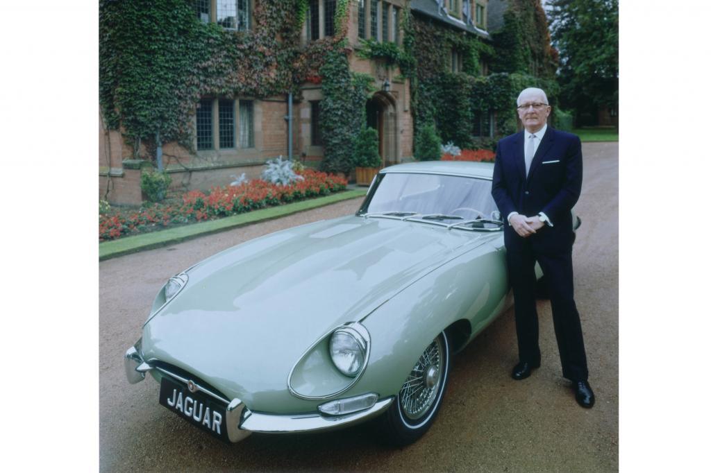 Jaguar E-Type mit Willam Lyons, 1961