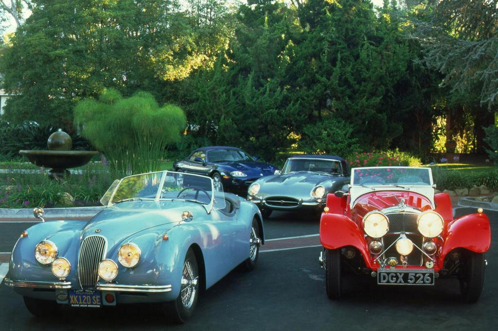 Jaguar XK 120, XK8, E-Type und SS 100