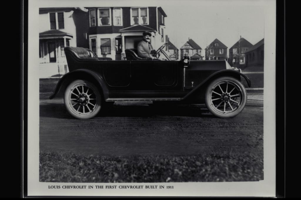 Louis Chevrolet im ersten Chevy, 1911