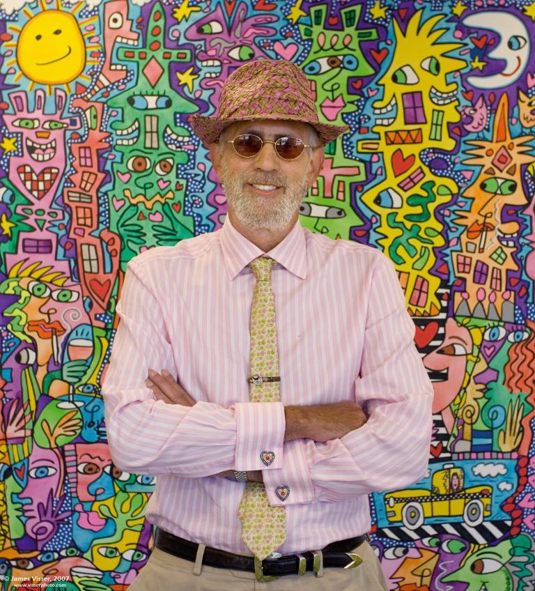Pop-Art-Künstler James Rizzi ist für die Zeichnung auf dem Plastikdach verantwortlich.