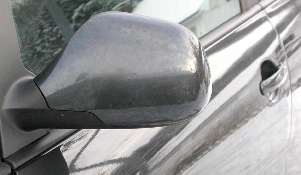 Seat Altea XL: Blick auf den Außenspiegel an der Fahrerseite.