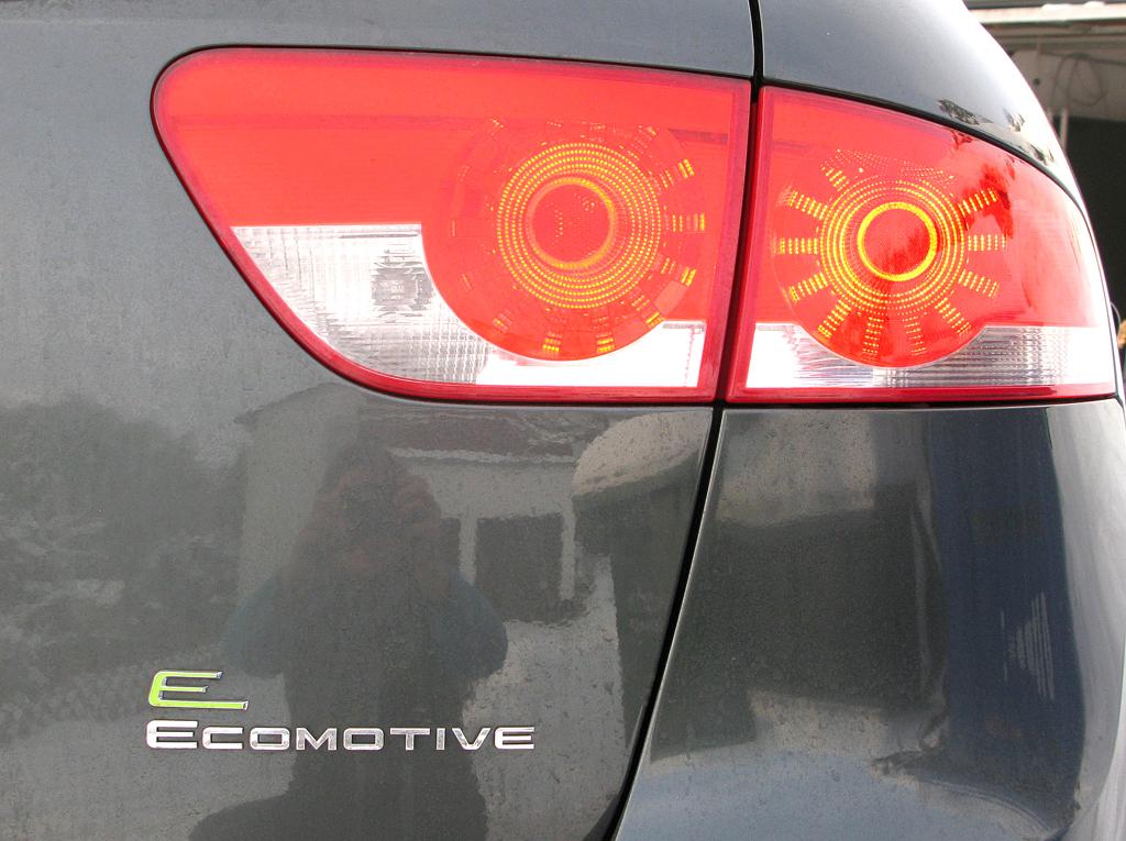 Seat Altea XL: Rundleuchten-Einheit hinten mit Modellschriftzug.