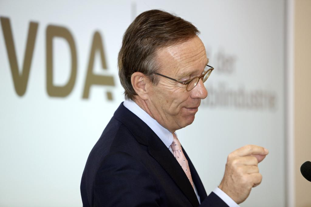 VDA-Präsident Matthias Wissmann.