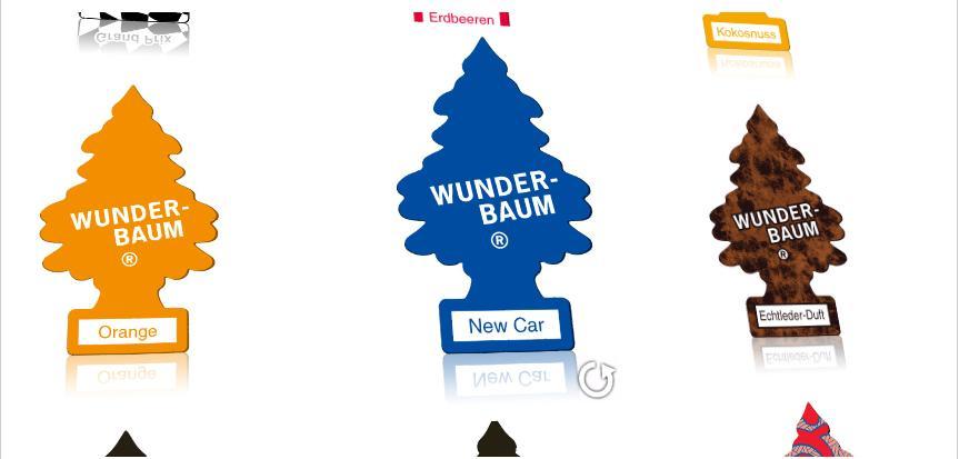 Vom Fondpassagier und der Hutablage – Auto-Begriffe, die 2011 keiner mehr kennt. Teil 1: VW-Blumenvase, Musikkasette, Fuchsschwanz und Wunderbaum. Quelle: http://www.wunder-baum.de/galerie.php.
