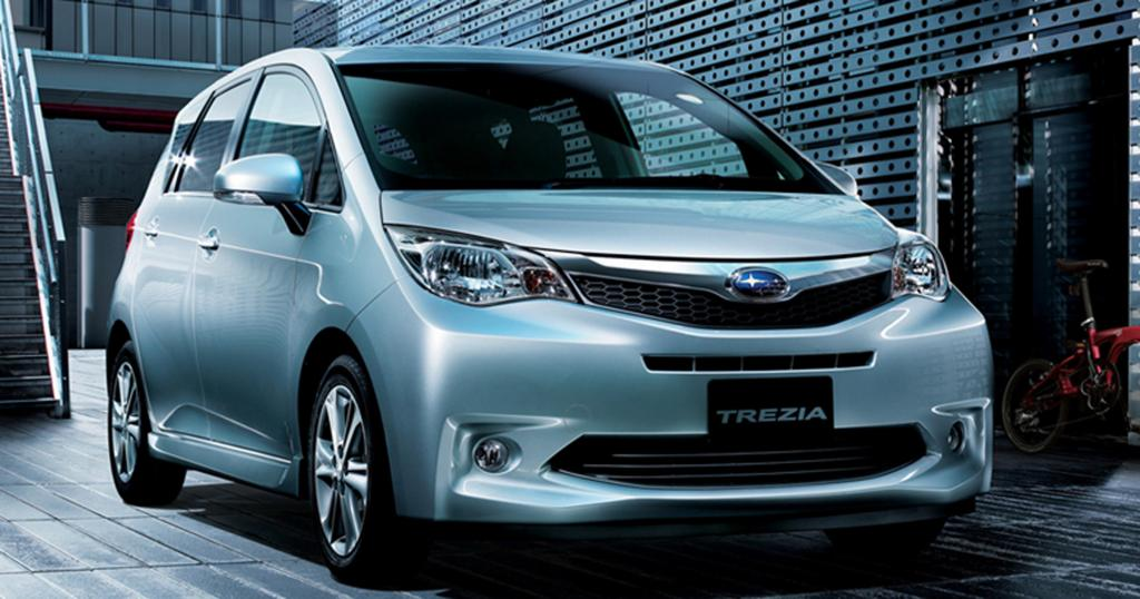 Wahlverwandtschaften besteht zwischen dem Subaru Trezia und dem Toyota Verso S