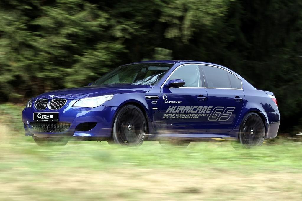 Weltrekordler: Der Flüssiggas-M5 bringt es auf eine Höchstgeschwindigkeit von 333 km/h.