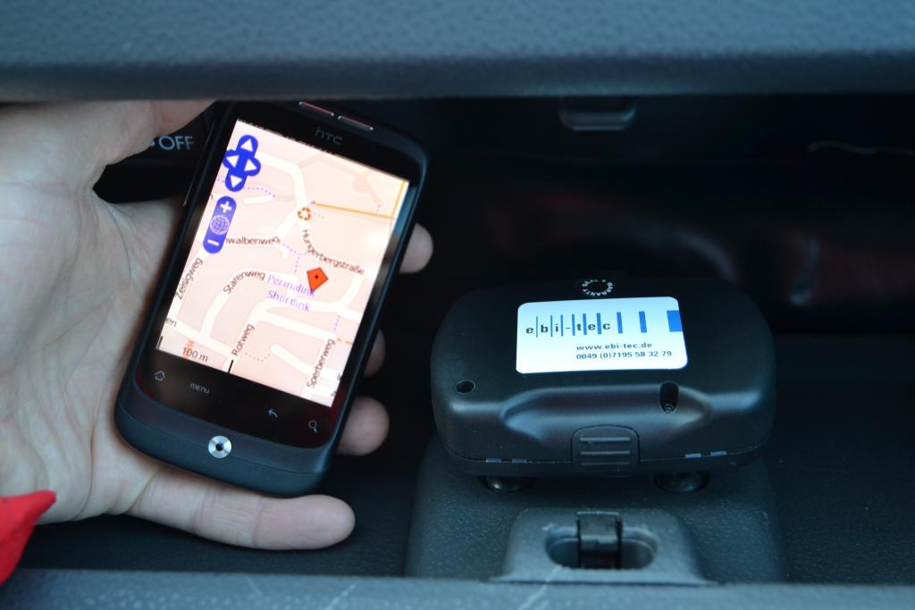 ebi-tec GPS-Alarm: Diebstahlschutz über SMS durch Fahrzeugortung per Smartphone