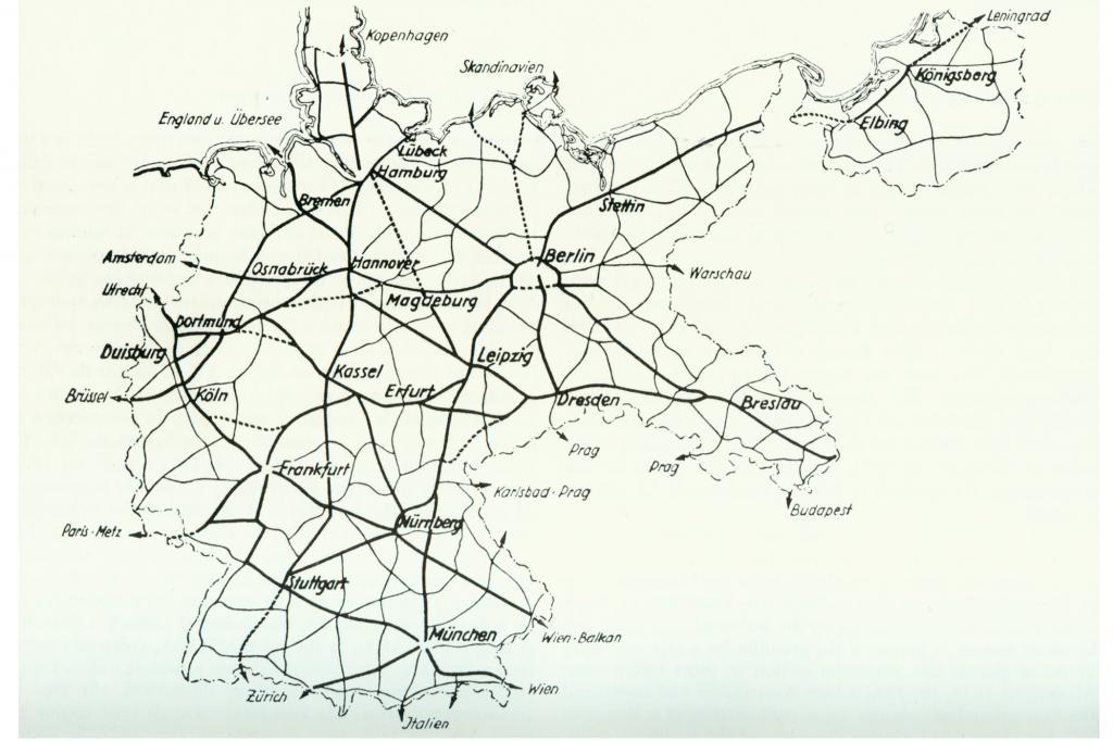 Autobahnnetz der HAFRABA