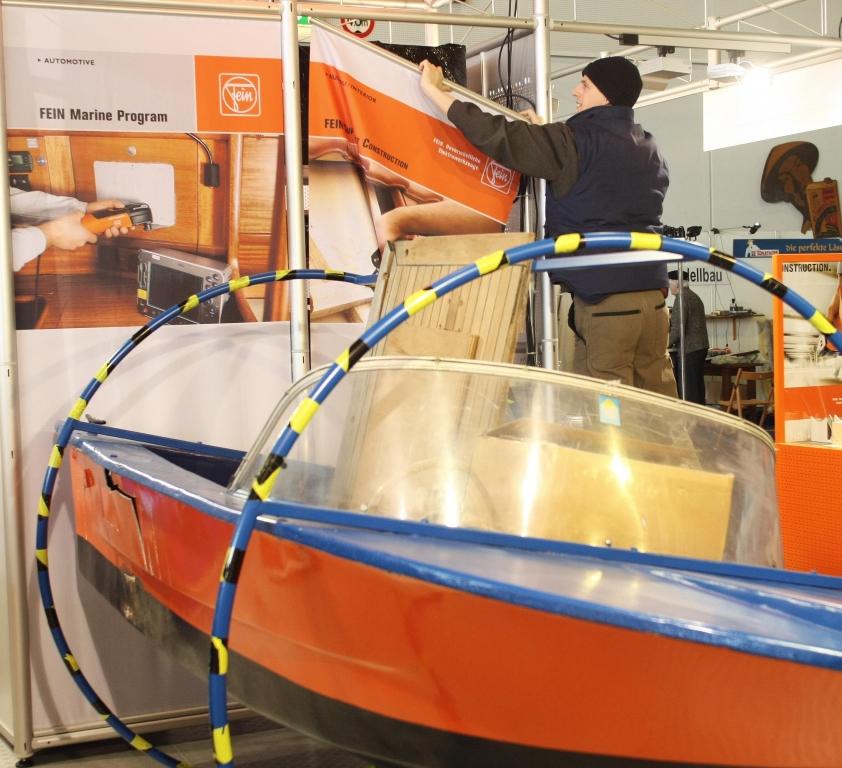 Boatfit 2011: Messeaufbau ist im volle Gange | fotos: messe bremen/frank thomas koch