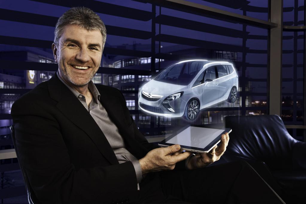 Das Opel Zafira Tourer Concept feiert in Genf seine Premiere.