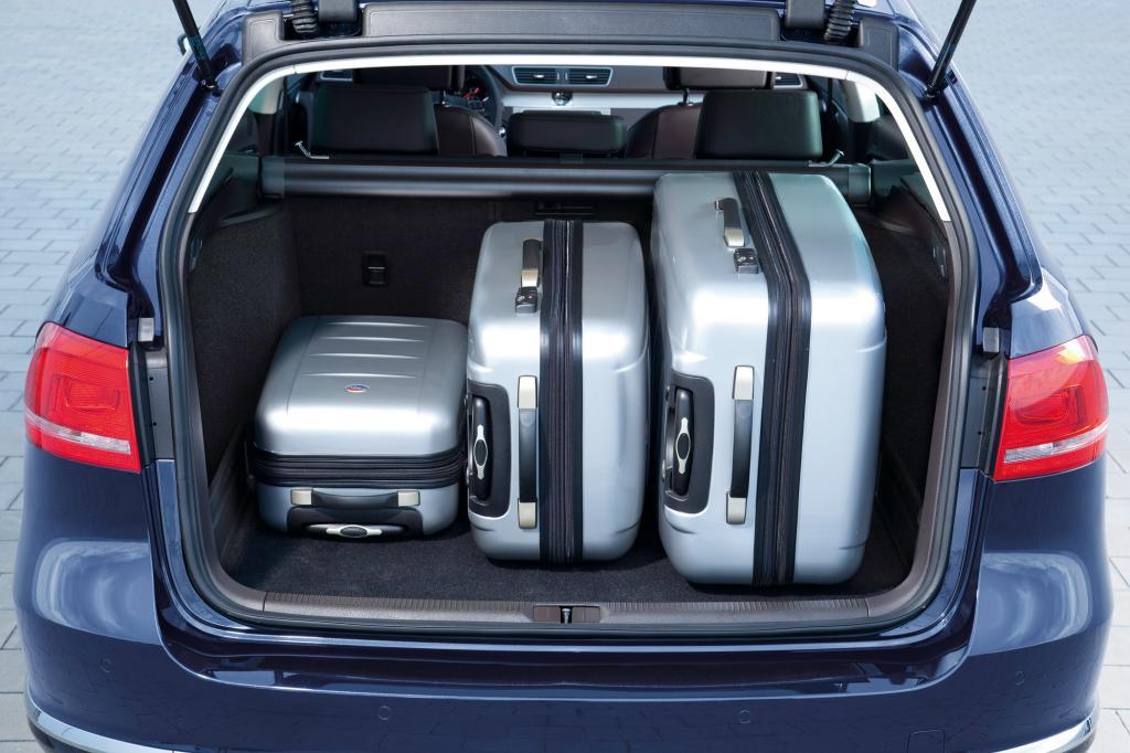 Der Gepäckraum ist groß und gut nutzbar