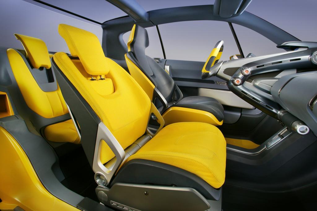 Der Innenraum wirkt sehr futuristisch