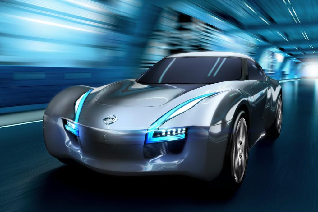 Der Nissan Esflow ist ein futuristischer Elektrosportwagen.