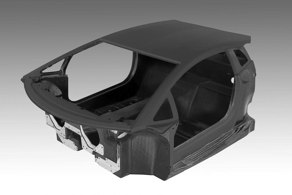 Die Fahrgastzelle des neuen Lamborghini besteht vollständig aus CFK.