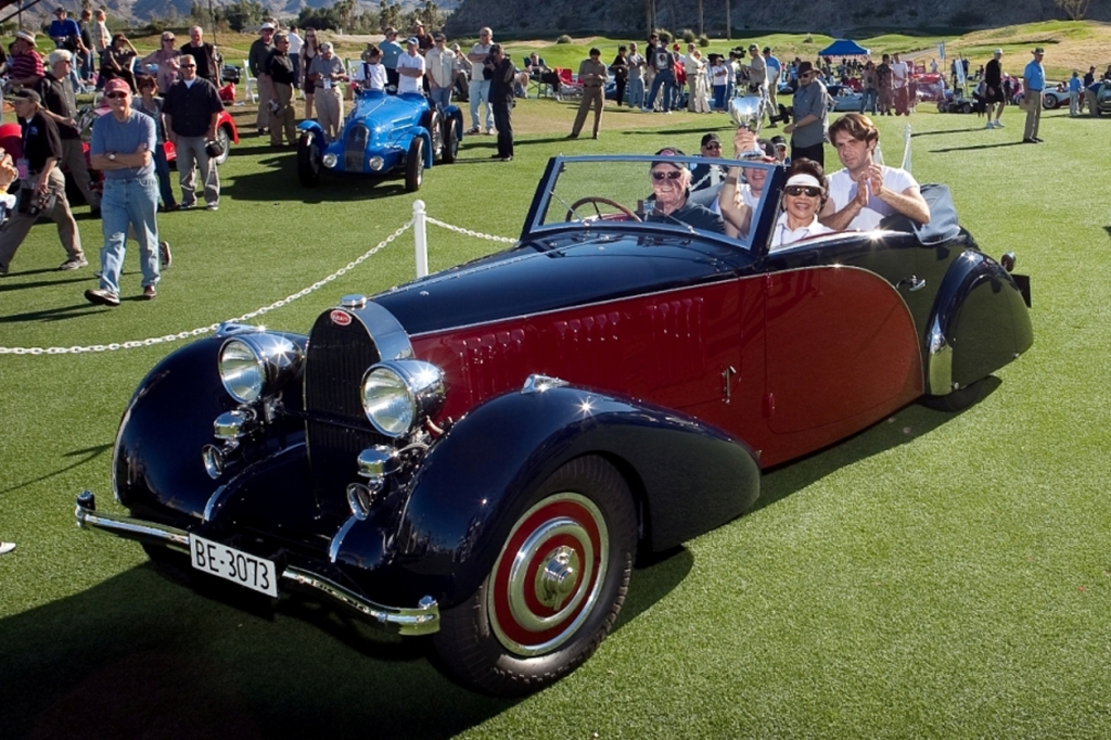 Ein edler Bugatti ist auch dabei.