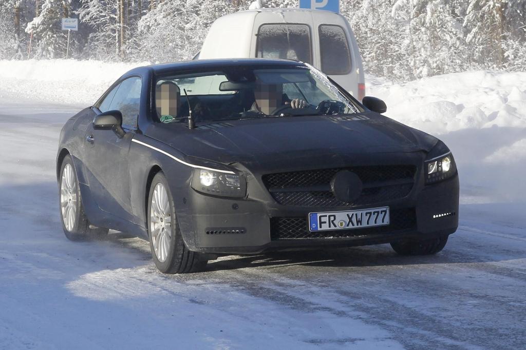 Erwischt: Erlkönig Mercedes-Benz SL – Ein Roadster im Schnee