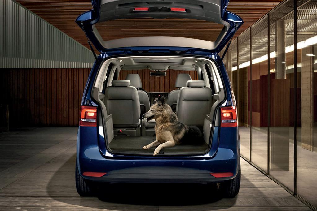 Für Hundebesitzer und Fahrer eines VW Touran gibt es eine Reihe von Zubehör.