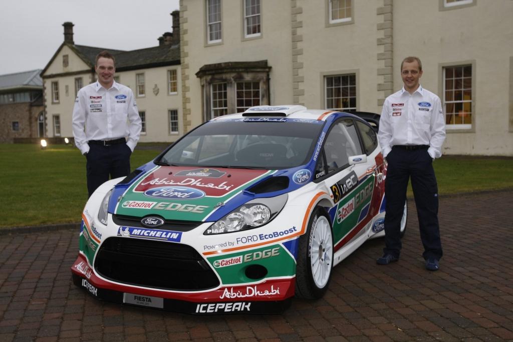 Ford Fiesta RS WRC mit Jari-Matti Latvala und Mikko Hirvonen.