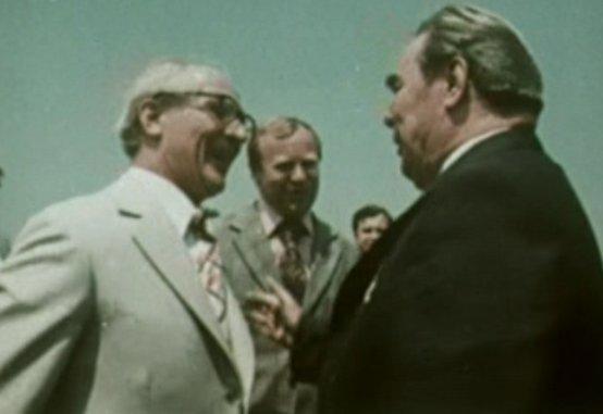Honecker und Breschnew bei einem Treffen