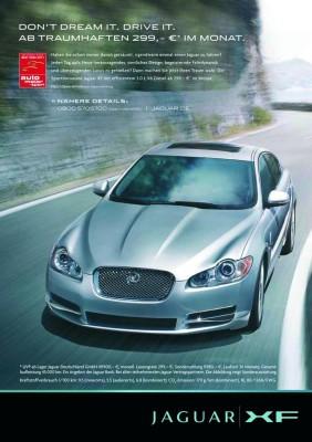 Jaguar verleast den XF für 299 Euro im Monat