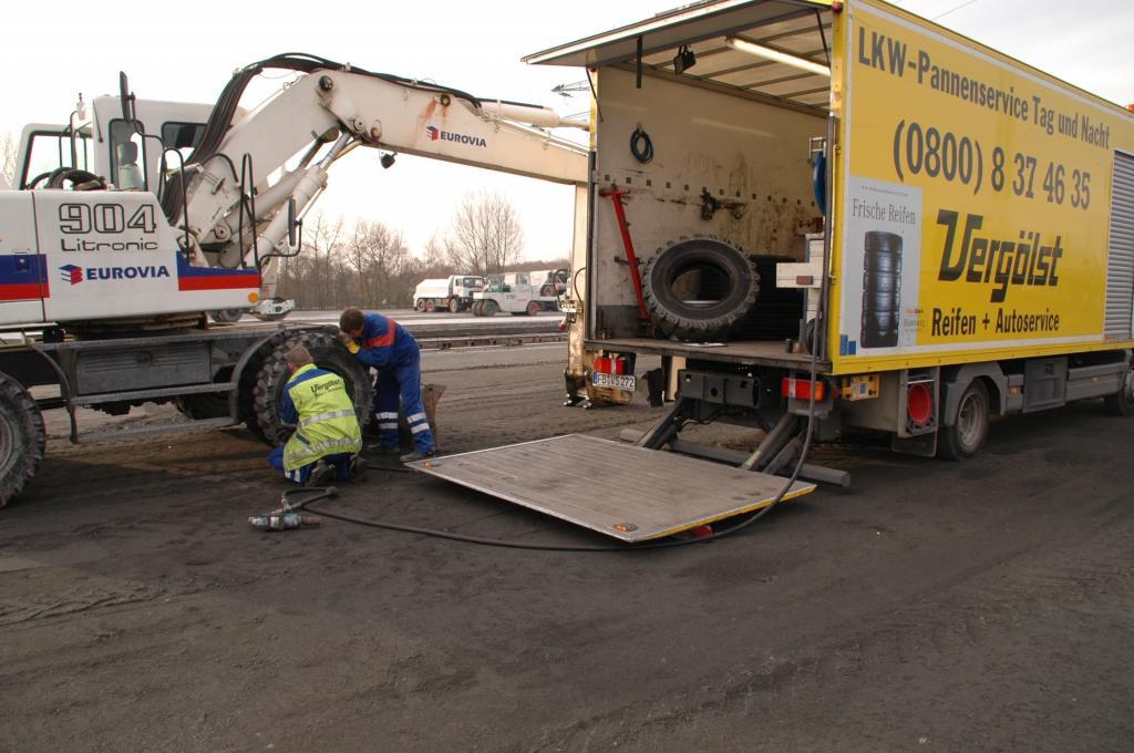 Lkw-Pannenhilfe von Vergölst.