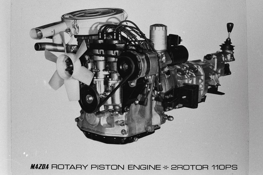 Mazda Cosmo Sport 110S, Zweischeiben Wankelmotor.