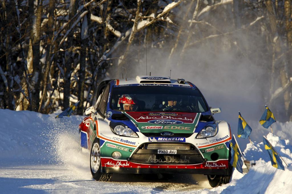 Mikko Hirvonen und Jarmo Lehtinen im Ford Focus RS WRC.
