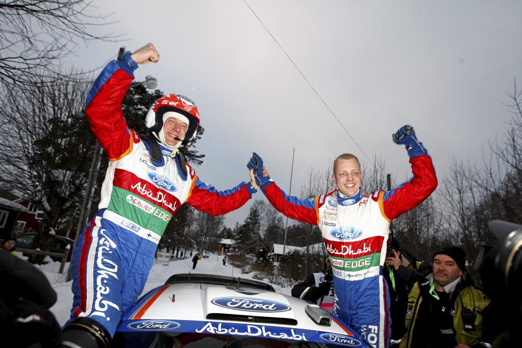 Mikko Hirvonen und Jarmo Lehtinen.