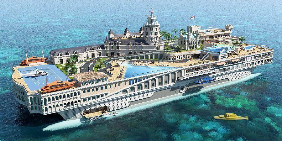 Monaco im Kleinen - der Entwurf der Yacht, Bild: Yacht Island Design