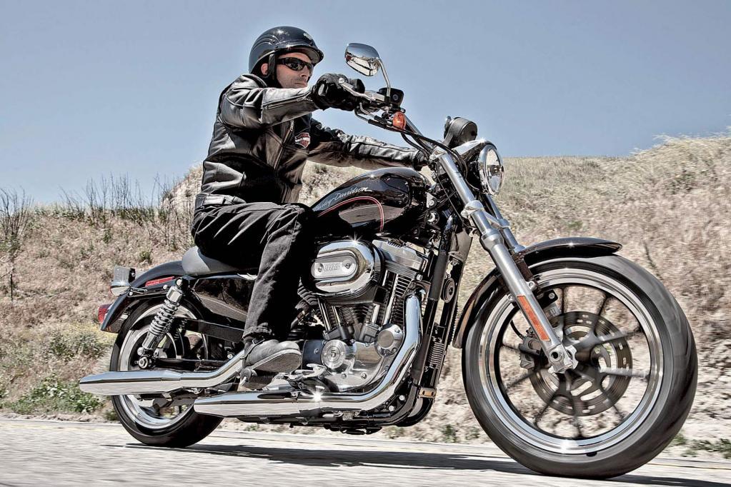 Nicht nur für Kleingewachsene: die Harley-Davidson Sportster 883 SuperLow.