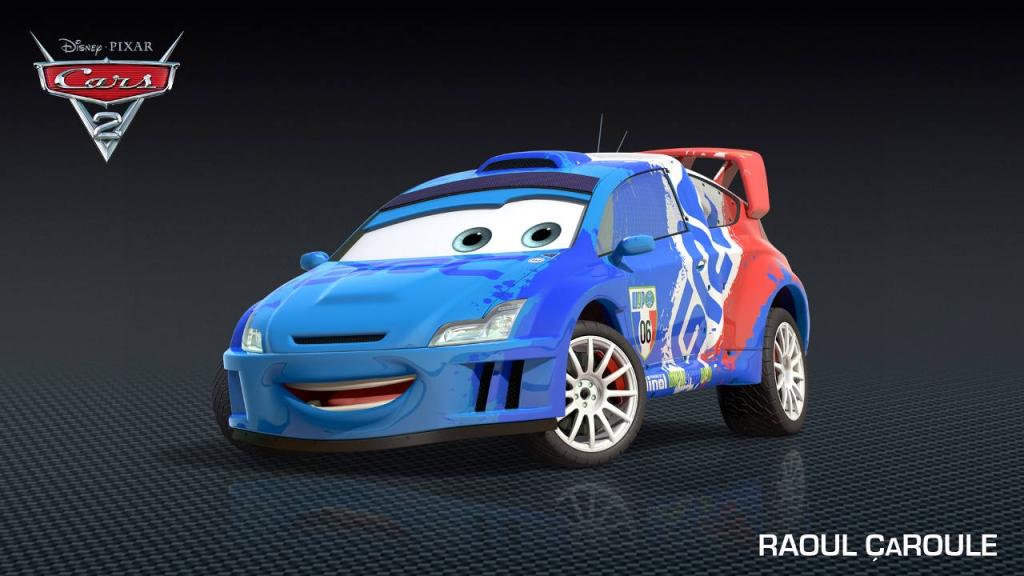 Sehnsüchtig erwartet - Auto.de stellt die neuen Autos aus Cars 2 vor. Ebenfalls Hoffnungen auf den Sieg macht sich Raoul CaRoule, verspoilerter Rallyewagen aus dem Elsaß..
