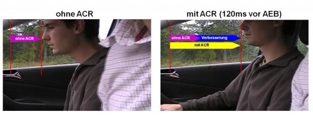 TRW integriert aktiven Gurtaufroller in automatisches Notbremssystem