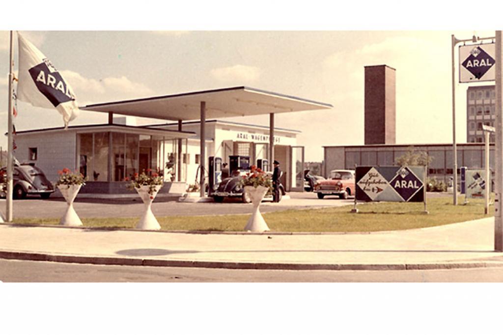 Tankstelle aus den 50er Jahren