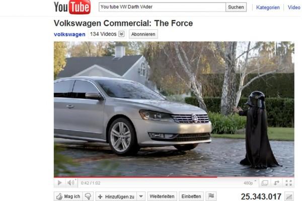 USA: VW-Werbe-Spot bewegt Millionen Menschen