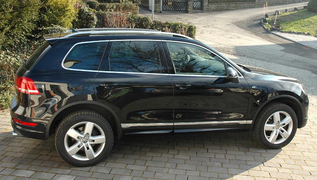 VW Touareg Diesel: Seitenansicht des geländetauglichen Nobel-Volkswagens.